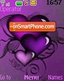 Purple hearts theme screenshot