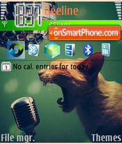 Cat and Microphone theme screenshot