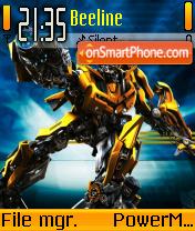 Transformers Bumblebee theme screenshot