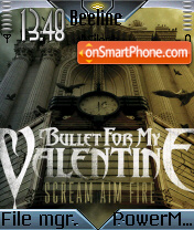 Bullet for my Valentine 01 theme screenshot