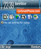 Blue Abstrakt theme screenshot