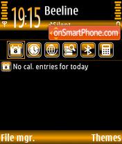 Скриншот темы Black in Orange