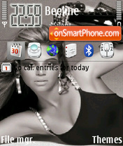 Beyonce Knowles 08 theme screenshot