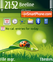 Spring With Ladybug (Touch) theme screenshot
