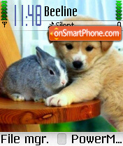 Bunny and Dog tema screenshot