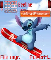 Stitch Catching Air theme screenshot