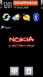 Nokia Theme 5800 XM tema screenshot