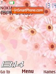 Скриншот темы Pink flowers flash 1.1
