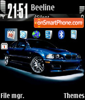Bmw Blue 01 theme screenshot