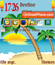 Summer Sea V2 theme screenshot