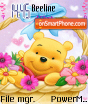 Pooh and flower es el tema de pantalla