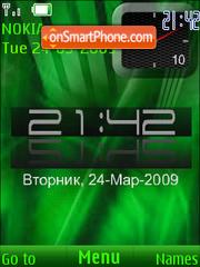 SWF green clock theme screenshot