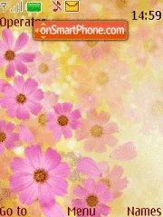 Flowers pink theme screenshot
