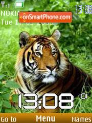 SWF tiger clock theme screenshot