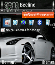 Nissan Skyline White theme screenshot
