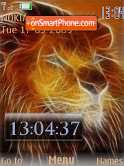 Fire Lion flash 1.1 theme screenshot
