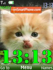 SWF clock kitten theme screenshot