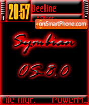 Symbian 8 theme screenshot