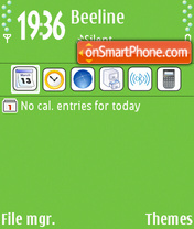 Скриншот темы Green 09