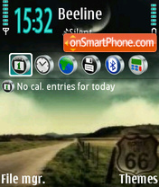 Road 66 theme screenshot