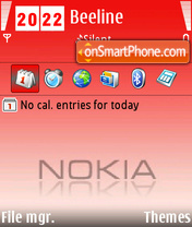 Red Nokia 01 theme screenshot