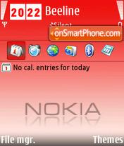 Скриншот темы Red Nokia 01