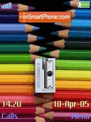 Colour Pencils es el tema de pantalla