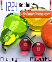 Glass fruit theme screenshot