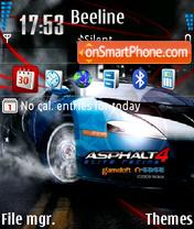 Asphalt 4 Elite Racing es el tema de pantalla