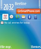 OVI Blue' Theme es el tema de pantalla