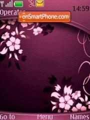 Abstract Bordo Pink theme screenshot