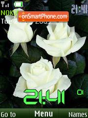 SWF roses clock theme screenshot