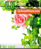 Flower Edge es el tema de pantalla