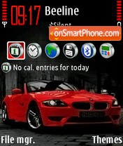 Red BMW 01 theme screenshot