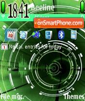 Capture d'écran Green Abstratct thème