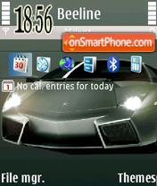 Sports Car es el tema de pantalla
