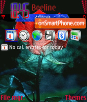 Red and Blue Rose theme screenshot