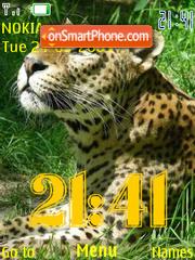 SWF leopard clock theme screenshot