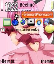 Pink Anime es el tema de pantalla
