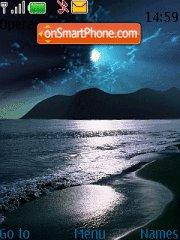 Night Beach theme screenshot