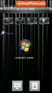 Concept 2009 Vista tema screenshot