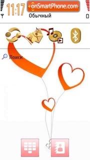 Love Hearts 02 theme screenshot