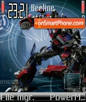 Optimus Prime kr theme screenshot