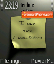 Wallpaper 01 theme screenshot