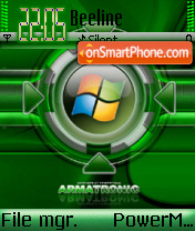 Green Windows theme screenshot