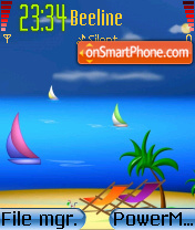 Beautiful Beach 01 es el tema de pantalla