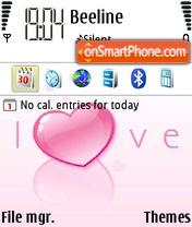 Love Valentine theme screenshot