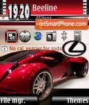 Red Lexus theme screenshot