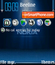Nokia Blue 01 theme screenshot
