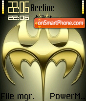 Gold Batman theme screenshot